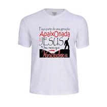 Camisa Camiseta Jesus Evangélica Frases Personalizada Gospel