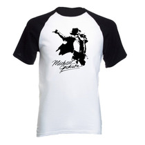 Camiseta Adulto Raglan Michael Jackson Thriller Pop 06