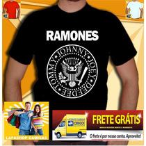 Camiseta Ramones Bon Jovi Nirvana Rappa Roses Frete Gratis