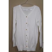 Casaco Casaquinho De Tricot - Lã - Malha - Basico Branca
