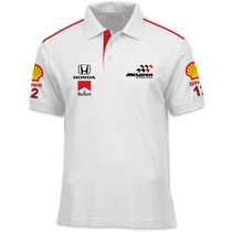 Camisa Polo Fórmula Retrô - Mclaren 1988 - Frete Grátis