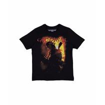 Blusa Camiseta Preta God Of War Tam. 16 Anos Camisa