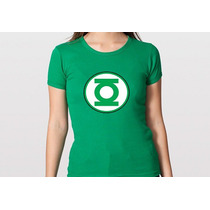 Camiseta Feminina Baby Look Lanterna Verde 100% Algodão