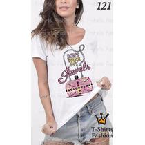 Camiseta T-shirt My Jewels Fashion Feminino Blusa Baby Look