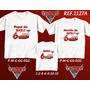 Kit Camiseta Carros Mcqueen Aniversario Festa Kit Com 3