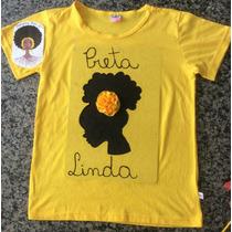 Camiseta Infantil Pintada A Mão - Menina Negra