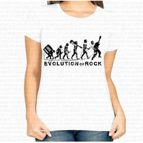 Frete Barato Camiseta Feminina Evolution Of Rock
