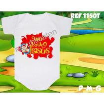 Body Infantil Sou Louco Por Jesus Personalizado Evangélico