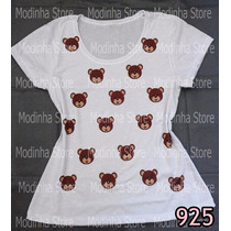 Baby Look Tshirt Feminina Estampa Urso Ursinho Ted Moda 2015