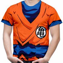 Camiseta Masculina Dragon Ball Z Camisa Fantasia Estampa Hd