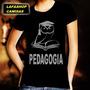 Camiseta Pedagogia Camisa Baby Look Feminina Rosa Cursos