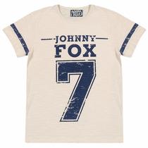 Camiseta Manga Curta Johnny Fox Nude C/ Estampa Numero 7