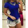 Peplum Bandagem Blusinha Feminina Modela O Corpo Blusa+frete