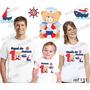 Camiseta Ursinho Marinheiro Personalizada Kit Com 3 Uni