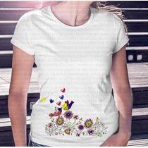 Camisa Estampa Feminina Amor Sin Fronteiras