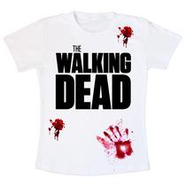 Camiseta Baby Look Feminina The Walking Dead - Infectado