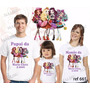 Lembrança De Aniversario Ever After High Camiseta Kit Com 3