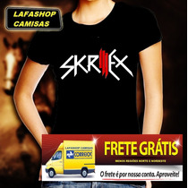 Camiseta Skrillex Camisa Baby Look Feminina Djs Eletronica