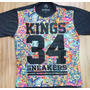 Linda Camiseta Kings 34 Sneakers Floral (colorida) Importada