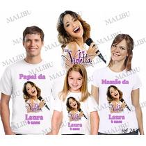 Lembrança De Aniversario Violetta Camiseta Kit Com 3