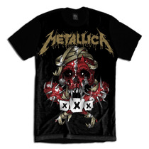 Metallica Camiseta Masculina Bandas Personalizada
