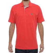 Camiseta Masculina Oakley Polo Essential Square Vermelha