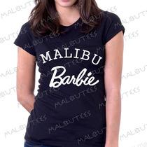Baby Look Camiseta Malibu Barbie Personalizado Blusa