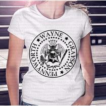 Camiseta Feminina Batman Sátira Do Ramones