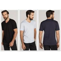 Camisa Sem Estampa 100% Algodão Fio 30.1 Penteado