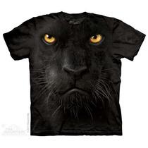 Camisa 3d Black Panther Face The Mountain Original