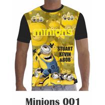 Camisa Camiseta Personalizada Desenhos Filmes Minions