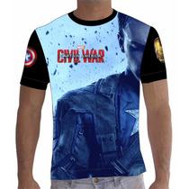 Camisa Camiseta Capitão América - Guerra Civil 01