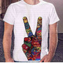 Camiseta Pronta Entrega Masculina Peace And Love Not War