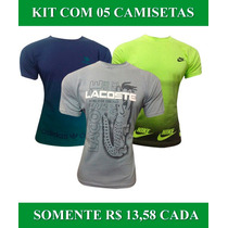 Kit 5 Camisetas Masculinas Baratas Marcas Famosas
