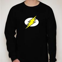 Camiseta Manga Longa Flash- Símbolo