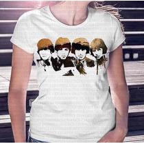 Camisa Estampa Feminina Beatles Marrom