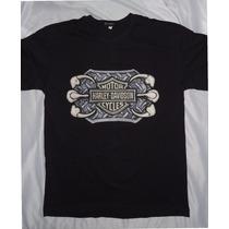 Camisa Camiseta Blusa Customizada Harley Davidson Garras Aço
