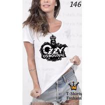 Camiseta T-shirt Ozzy Fashion Feminino Blusa Baby Look