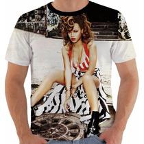 Camisa Camiseta Regata Baby Look Rihanna 19