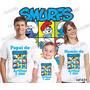 Camiseta Smurfs Personalizada Aniversario Kit Com 3