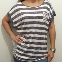 Blusa Camisa Malha Armani Exchange Feminina Gg 100% Original