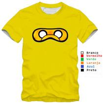 Camiseta Infantil Hora De Aventura Jake Finn Mascara
