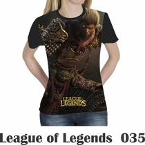 Camiseta Blusa Games League Of Legends Feminina Lol 035