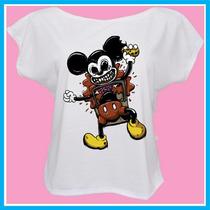 Blusa Feminina Mickey Mouse Zombie, Fashion, Desenho, Pers