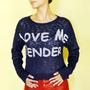 Blusa Love Me Tender, Linda Diferenciada, Pronta Entrega!!