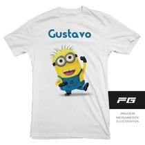 Camiseta Infantil Minions Com Nome Favorito Heróis Minion