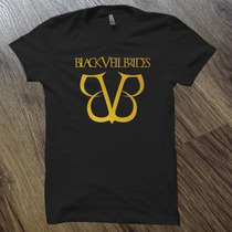 Camiseta Ou Baby Look Black Veil Brides Estampa Dourada