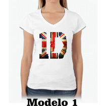Camiseta Baby Look One Direction Show No Brasil 2016