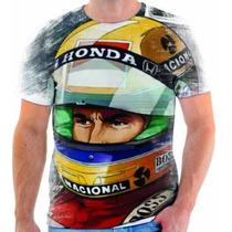 Camiseta Do Ayrton Senna Estampada - 6