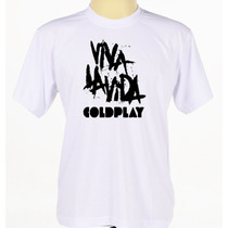 Camisetas Coldplay Customizada Banda Rock Rap Pop Adulto